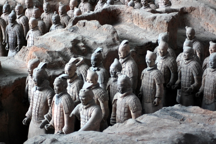 The Terracotta Army still stand waiting in Xi'an.