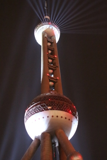 And a close up of the 'Oriental Pearl' tower.